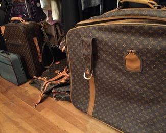 Luggage. Louis Vuitton (knockoffs).