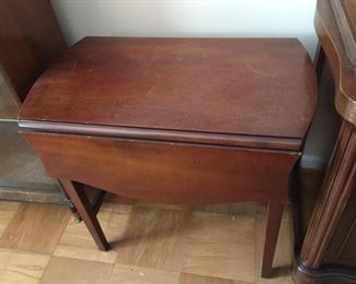 Small drop-leaf table.