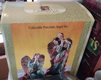 Porcelain Angel Set.