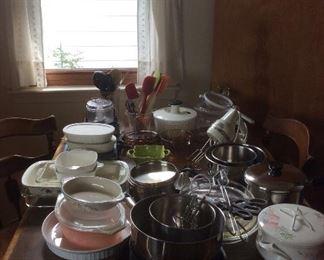 Baking supplies, Pyrex and Corning Ware