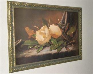 LARGE MAGNOLIA FRAMED ART