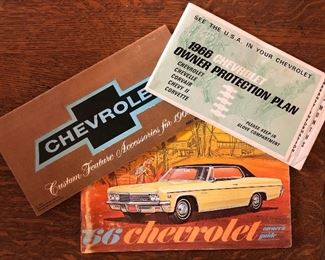 66 Chevy Owners Manual