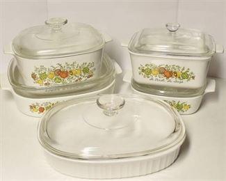 Corningware 5 Casserole dish set