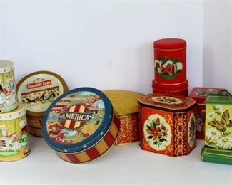 10 Vintage Tin Cannisters