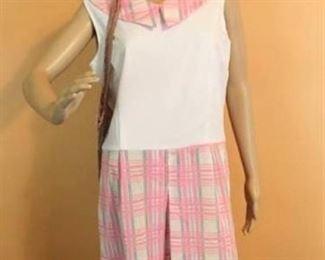 Culotte Romper Dress Sz 18 with Net Bag