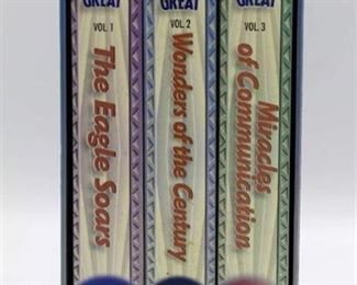 VHS Box Set - The Century That Made America Great and Hit Parade of the 40's and 50's 4 Cassettes (new in pkg)