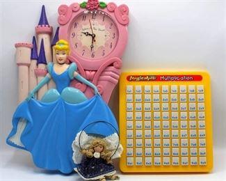 Cinderella Clock, Magic Math Multiplication & Angel Figurine