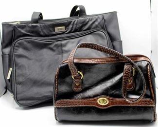Bill Blass Black Tote and Black Satchel purse