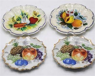 (4) small Decorative Plates