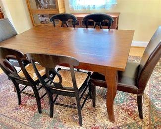 "Pottery Barn ""barn wood"" extendable dining table"