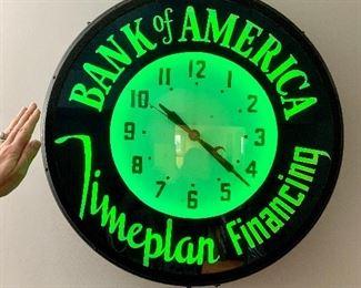 Vintage Bank of America clock
