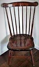 CHAIR Early American, 19th century fan back Windsor chair debbie