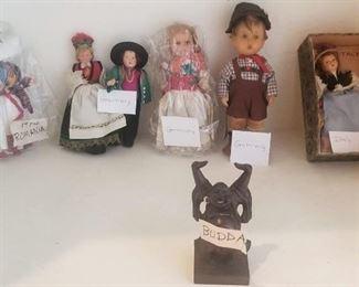 Dolls of the World Romania, Germany, Italy and Budda