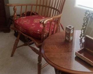 Vintage Frederick Duckloe & Bros Fan Back Windsor Arm Chair