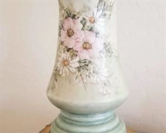 Steger signed  hand painted Lamp