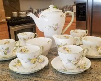 Vintage Shelley porcelain 9 piece Tea set