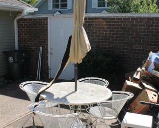 Vintage wrought iron patio