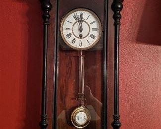 Vienna style regulator clock