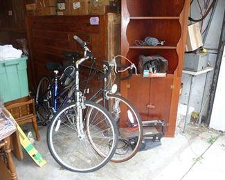 Bikes & Corner Cabinet