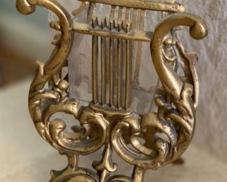 Cast Iron Lyre Plant Holder