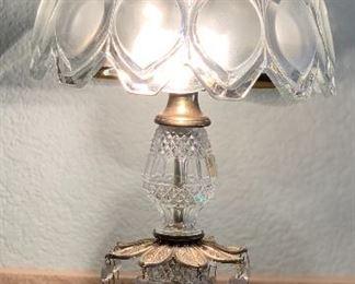 Crystal/Bronze Lamp #1 Oberglas Austria