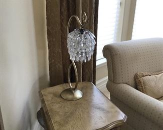- Crystal table lamp (close up)