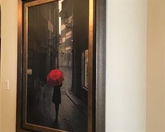 - 44x58 picture with red umbrella