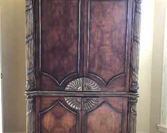 - 4 ft x 7 ft Dark Wood Armoire