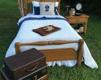 Vintage trunks! Two twin beds available.  Photo by Mark Colvin.