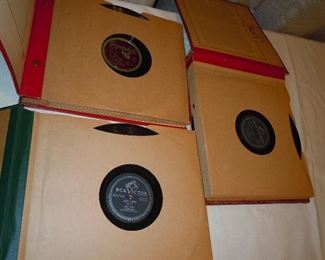 Several books of 78 RPMs.  Classic songs.  Hank Snow and others.