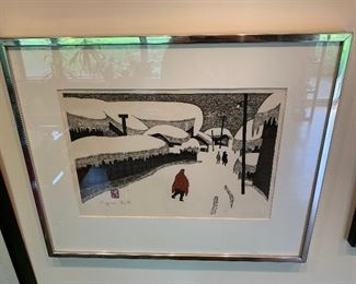 Kyoshi Saito Winter in Aizu Print