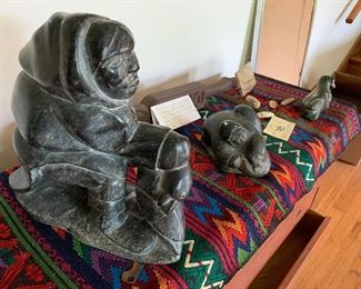 Inuit carved stone sculptures