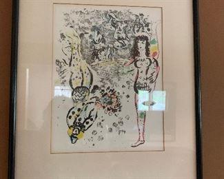 Chagall Circus print