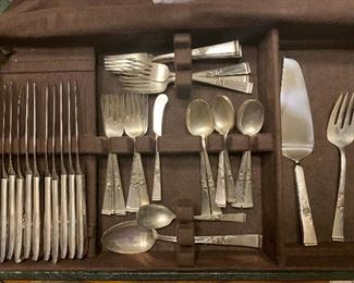 Reed & Barton 52 Piece Classic Rose Sterling Flatware