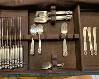 44 Piece Georg Jensen Acorn Sterling Set