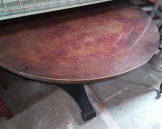 Shaw Copper Round table. Smaller copper tables go for the price we have this listed.