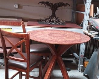 ONE OF A KIND EXOTIC WOOD MCM TABLE... THIS IS THE OWNERS FAVORITE PIECE. IT'S LITERALLY MESMERIZING!