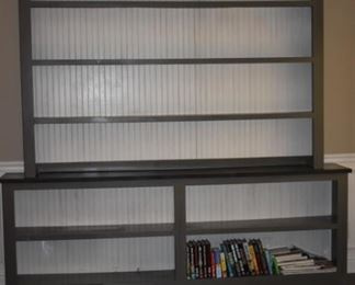 Bookcase, Display Unit with Wainscoting Backing this Beautiful piece is Handmade by Rooster Tail of Franklin