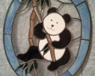 Panda - stained glass oval https://ctbids.com/#!/description/share/228065