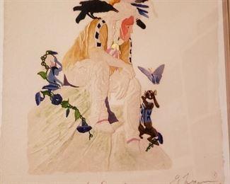 "Ed Morgan Engraved Artwork ""Beginning of the Dream"" 1995 https://ctbids.com/#!/description/share/228062"