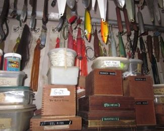 Mostly Salt Water Fishing Tons of Penn Reels Casting Reels & Baitcasting Reels Tons of Fishing Lures & Molds Fishing Weights Garcia Fishing Rods Fenwick Fishing Rods Harnell Fishing Rods Boat Ropes/Nets Tons of Boating & Fishing Needs