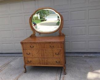 005 Antique Dresser with Mirror