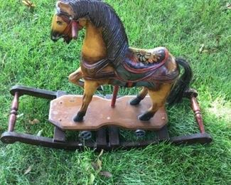 006 Vintage Wood Horse Toy Rocker