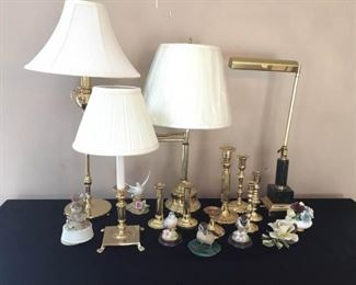 Brass Lamps and More