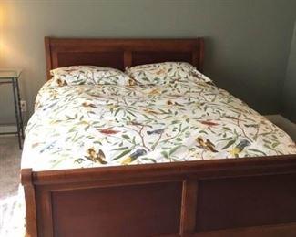 Cherry Queen Sleigh Bed