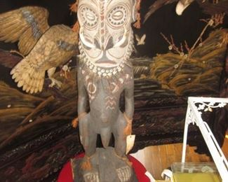 Kamanibit Ancestral Figure  Ancestral Figure Papua New Guinea 40 inches in height