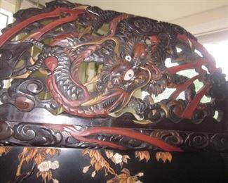 Antique Carved Antique Asian Room Divider