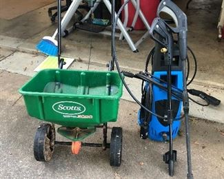Grass seeder & power Washer