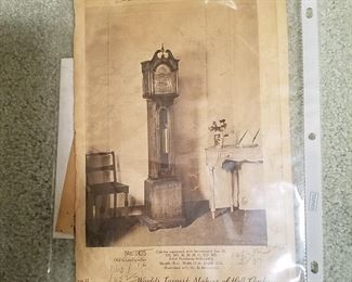 Original catalog page from Colonial Clock Co for very similar clock