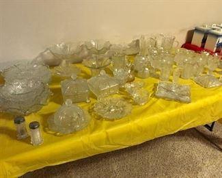Paneled Thistle glassware